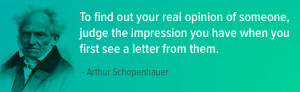 ... impression of someone your customers are forming impressions of your