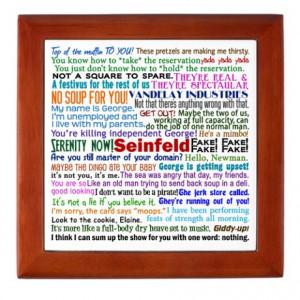 Seinfeld Quotes Keepsake Box