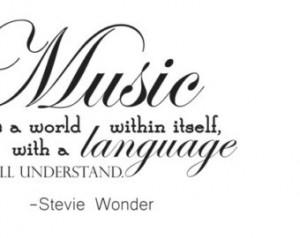 Stevie Wonder Quote Wall Decal / Vinyl Sticker | Music Song Lyrics Art ...