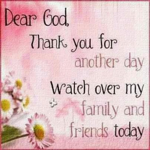 So thankful for another day!