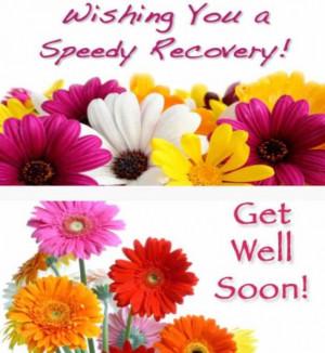 Wish you a speedy recovery