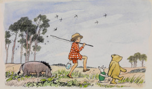 Christopher Robin with Winnie-The-Pooh, Piglet and Eeyore (original ...