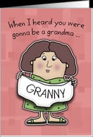First Time Grandma Congratulations- Granny Panties card - Product ...
