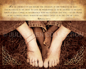 ... Art - Christian Baby Gift - CHOSEN - Ephesians 1 Art - Adoption Quote