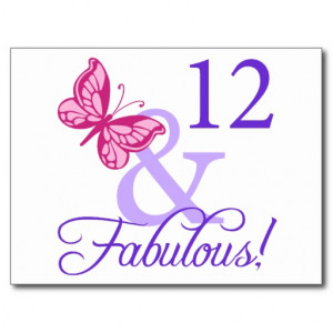 12 And Fabulous Birthday Post Cards