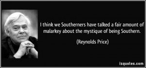Being Southern...