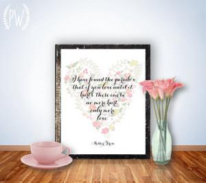 Love Quote Print, Printable art wall decor, inspirational wedding ...