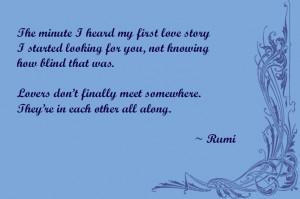Rumi Poem - lovers, love