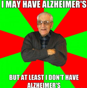 may have Alzheimer's