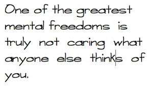 Mental Freedom!