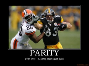 PARITY - Even WITH it, some teams just suck
