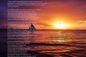 The True Love by David Whyte.... special meaning.. part of it recited ...