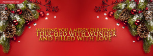 Merry Christmas With Wonder and Love Quote Picture