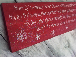 CHRISTMAS Vacation Clark Griswold funny quote sign