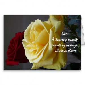 Love Quote: Happy Anniversary+Yellow Rose Greeting Card
