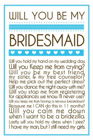 Popping the Second Question: Will you be my bridesmaid?