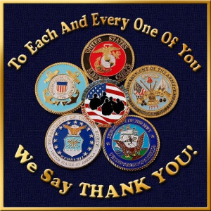 We salute your service and THANK YOU !!