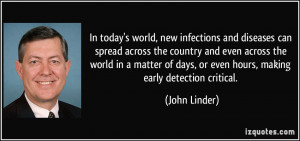 In today's world, new infections and diseases can spread across the ...