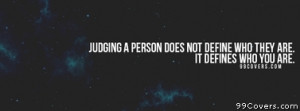 judging a person 4172 views judging a person facebook cover