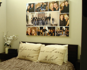 Photo Wall Art Collage Design For Bedroom Ideas: Family Photo Wall ...