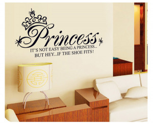 Princess quote wall sticker Art mural decal DIY home decor decoration ...