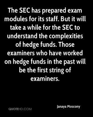The SEC has prepared exam modules for its staff. But it will take a ...