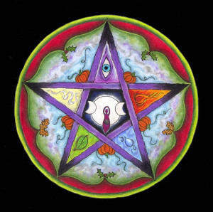This beautiful Samhain Wheel of the Year mandala is by ...