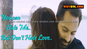 Love quotes in malayalam film in Haram