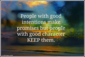 people with good character