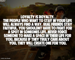 Jac Bowie's photo: Thought for today... loyalty is royalty.