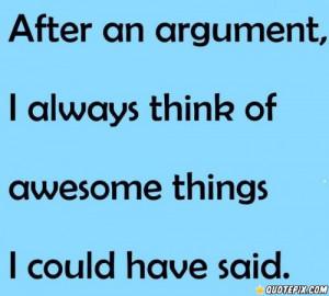 After An Argument.