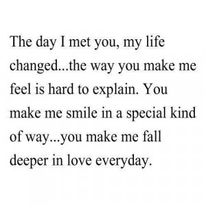 The day I met you...