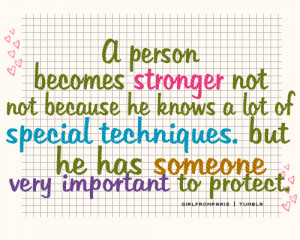 person becomes stronger not not because he knows a lot of special ...