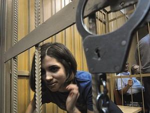 Nadezhda Tolokonnikova, a member of female Rus...