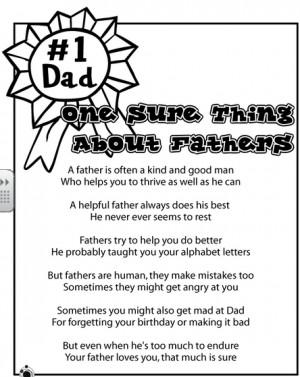Os dejo este bonito poema sobre el Día del Padre en inglés para ir ...