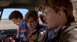 ... Single Action Army (circled in red) to Jed Eckert ( Patrick Swayze