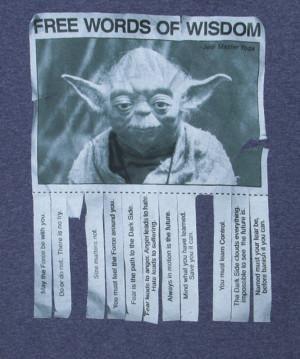 Yoda Words of Wisdom T-Shirt logo