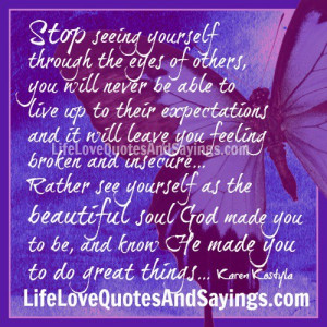 Stop Seeing O Yourself..