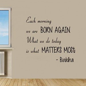 Wall Decals Quotes Buddha Quote - all that we are - Lotus Man...