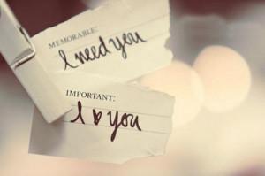Memorable : I need you