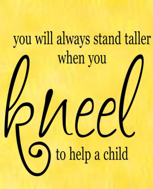 To hear a child, be a child