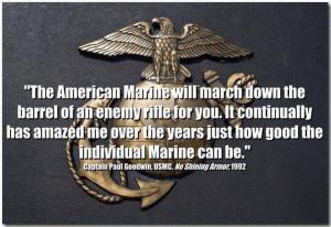 Usmc General Quotes --captain paul goodwin, usmc,