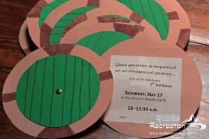 Hobbit Birthday Parties Invitation