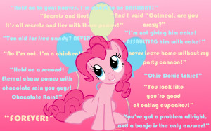 Pinkie Pie Quotes Wallpaper by RainbowDash180