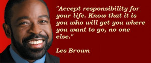 LES BROWN QUOTE RED