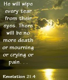 wipe away all tears from their eyes; and there shall be no more death ...