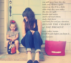 about being a mother or rather being a single mother