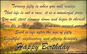 ... fifty, is definitely nothing short of a miracle. Happy 50th birthday
