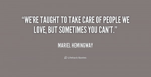 Taking Care of People Quotes