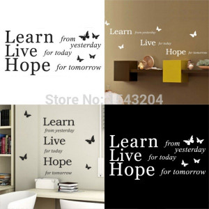 Good Quality 17Color Quote Learn Live Hope Vinyl Mural Wall Sticker ...